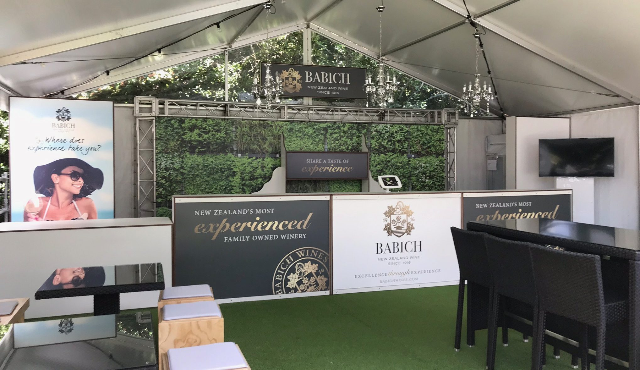 Babich Wines at the Tennis